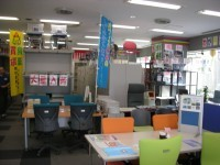 中古オフィス家具のありがとう屋。店内の様子です。