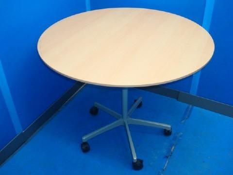 リサイクルオフィス家具丸テーブル